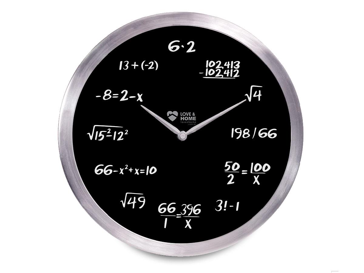 Relogio de Parede Equações Matematicas