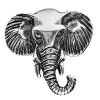 Anel Cabeça de Elefante Prata 925