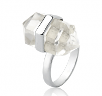 Anel Cristal Prata 925