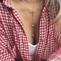 Colar Gravatinha com Coração e Cruz Prata 925