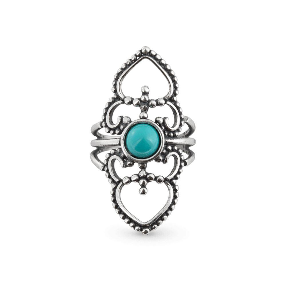 Anel Mirror Turquesa Prata 925