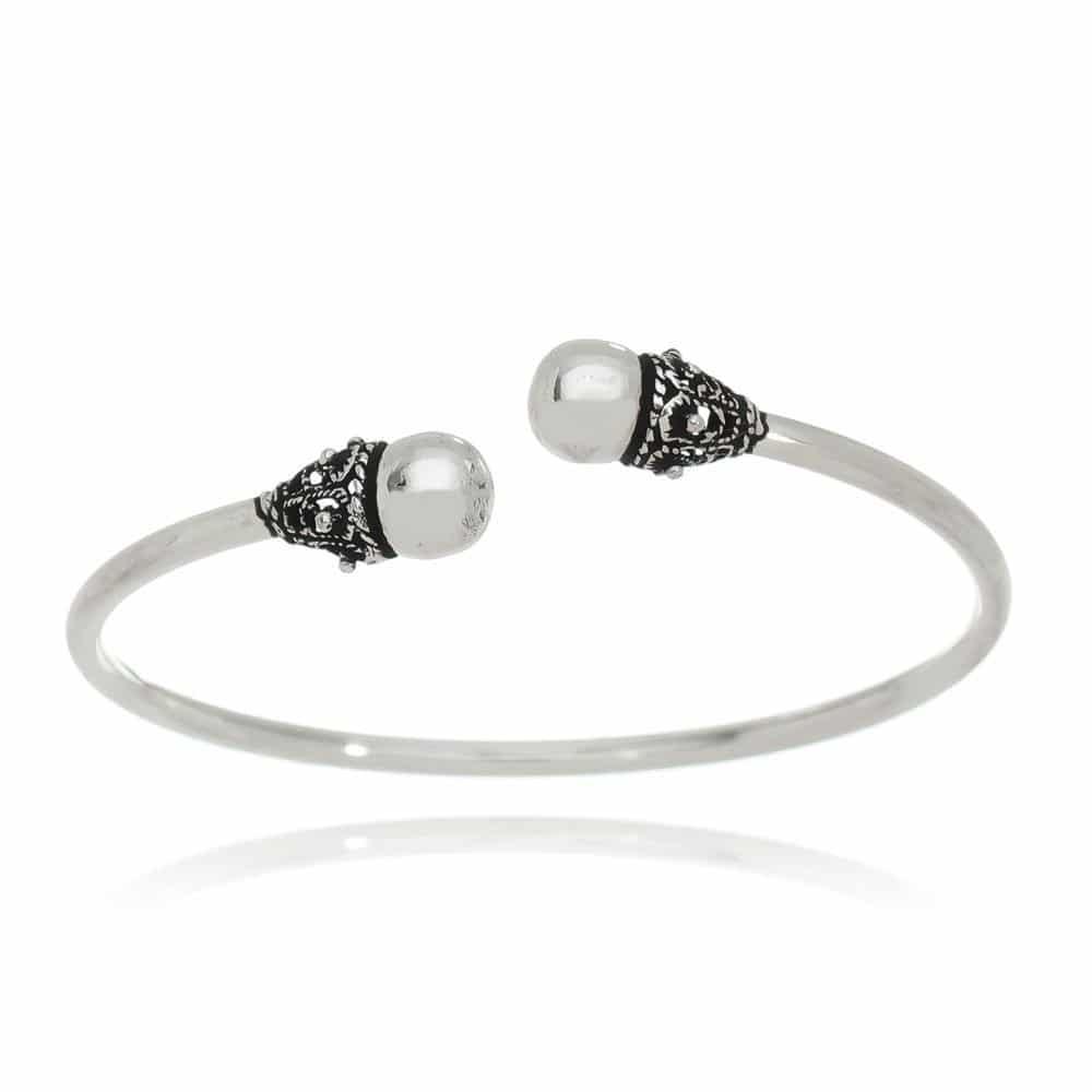 Bracelete Bali Esferas Prata 925