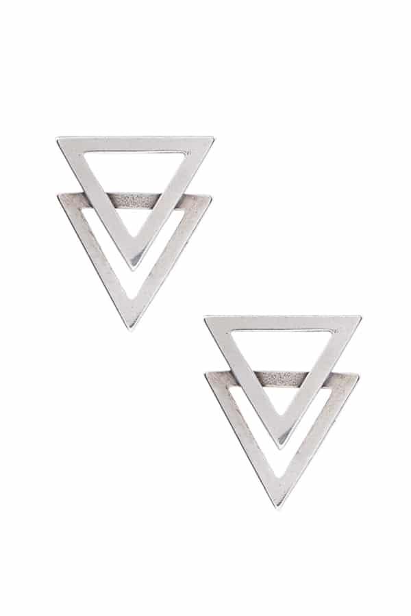Brinco Dois Triângulos Vazados