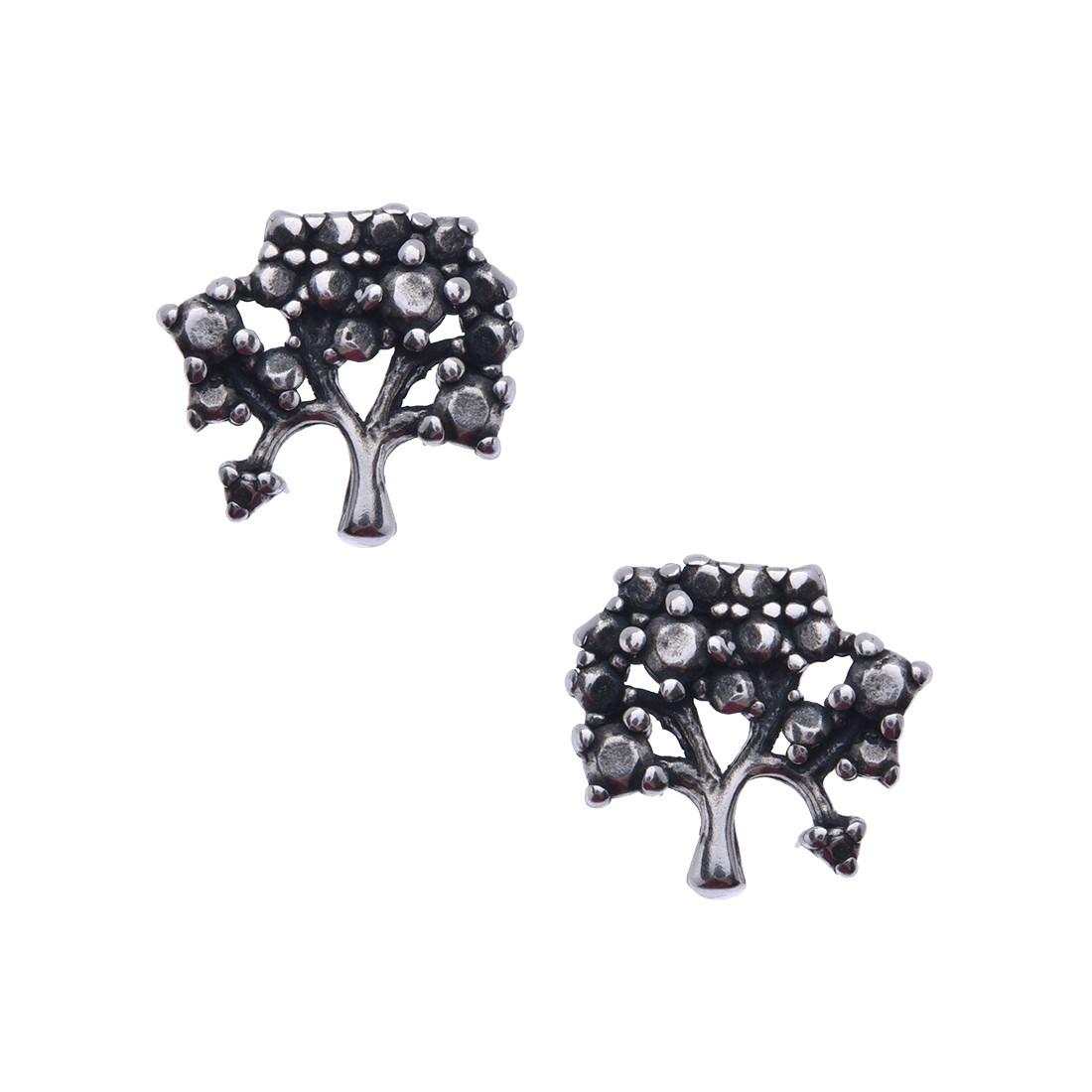 Brinco Árvore da Vida Marcassita Prata 925 e Marcassita