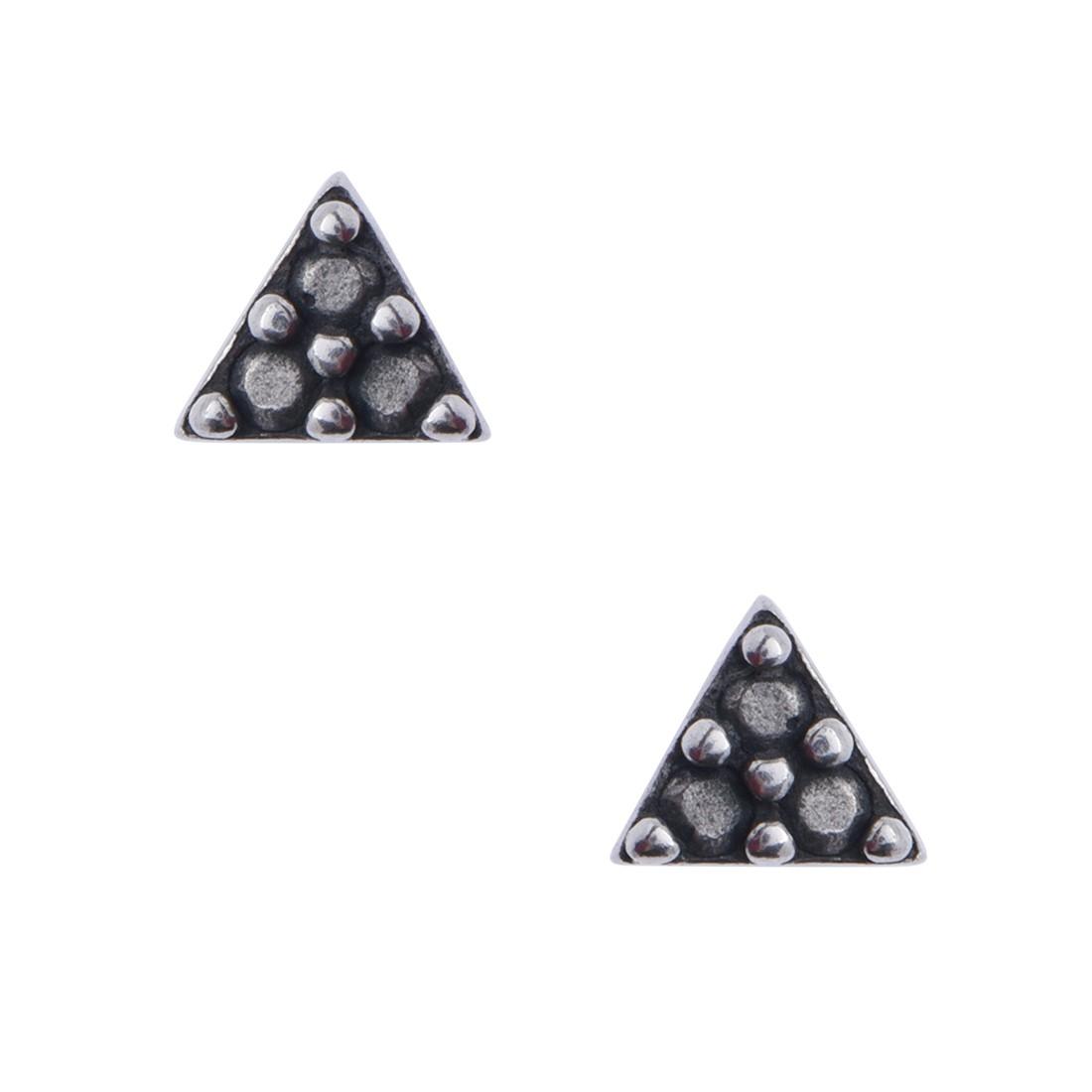 Brinco Micro Triângulo Marcassita