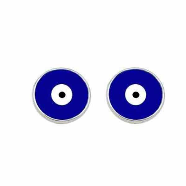 Brinco Olho Grego Azul Marinho