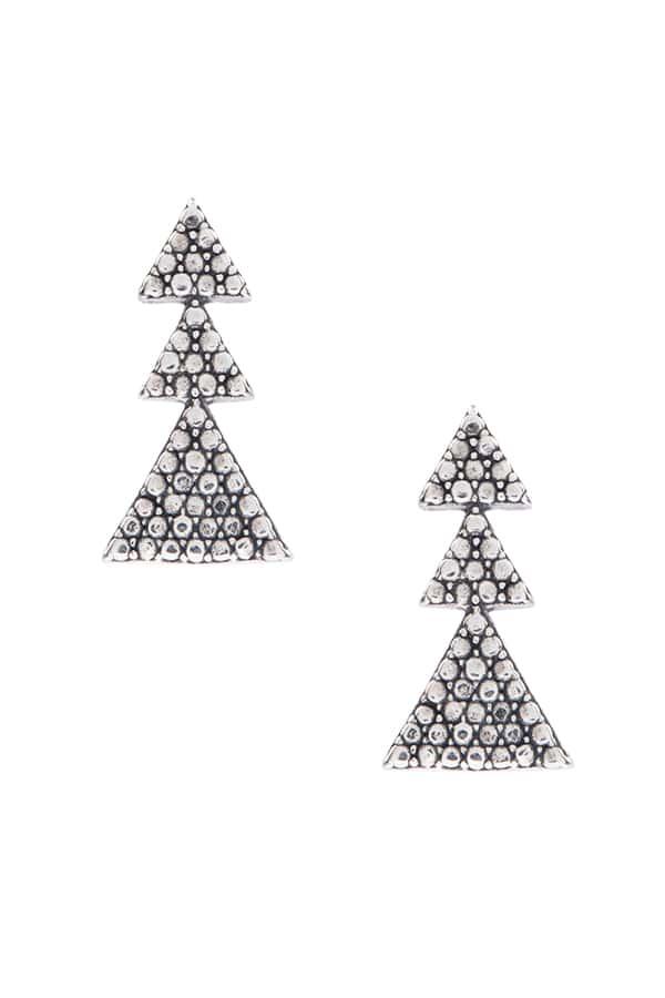 Brinco Três Triângulos Crescente