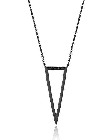 Colar Longo Triângulo Cravejado