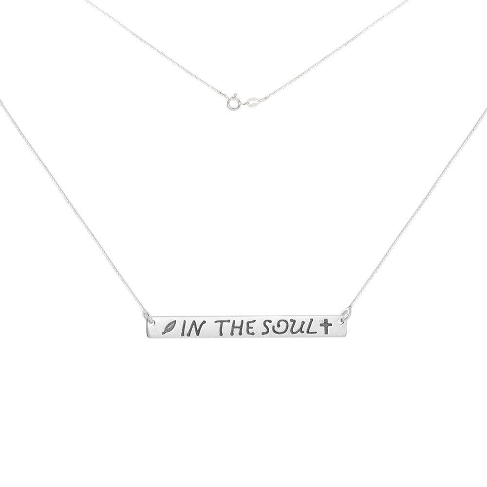 Colar Plaquinha In The Soul