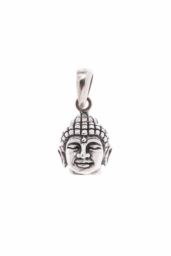 Pingente Mini Cabeça Buda Prata 925
