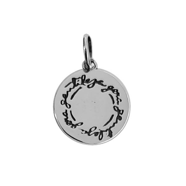 Pingente Medalha Gentileza Prata 925
