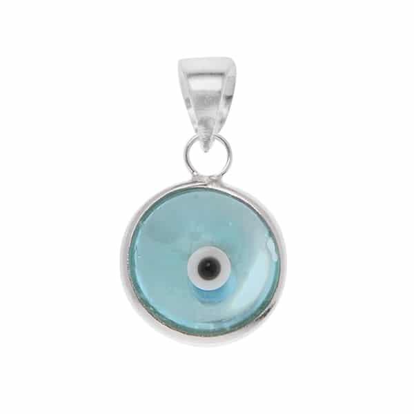 Pingente Olho Grego Azul Claro