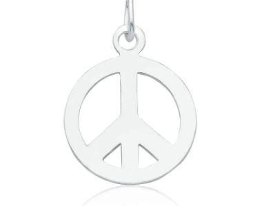 Pingente Paz e Amor Prata 925