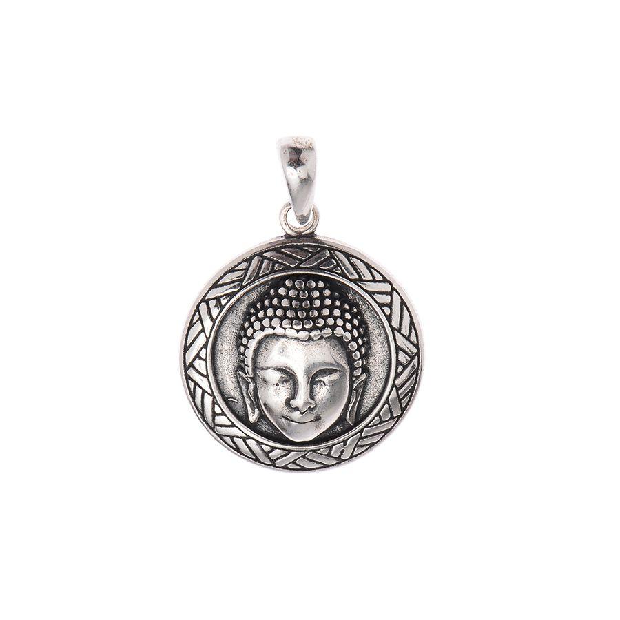 Pingente Medalha Cabeça de Buda
