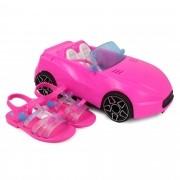 SANDÁLIA INFANTIL GRENDENE BARBIE PINK CAR