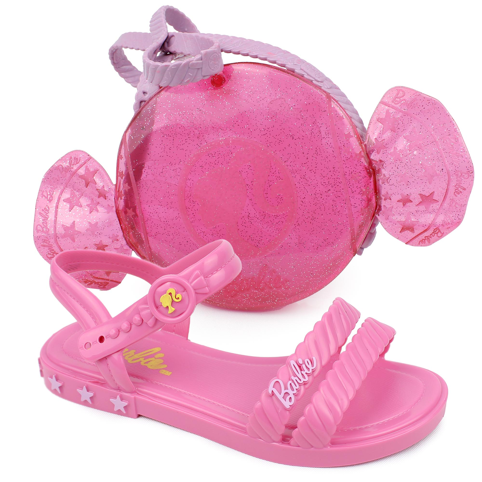 Sandália Infantil Grendene Kids Barbie Candy + Bolsa