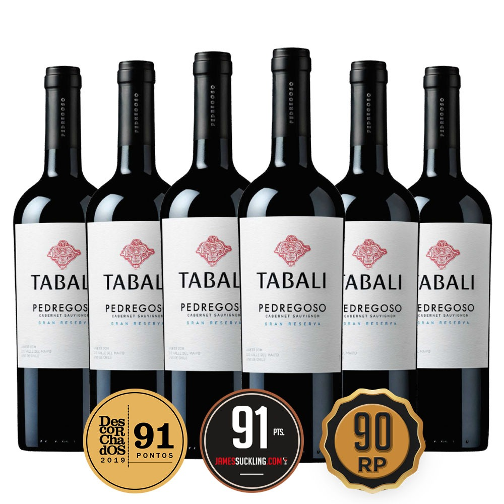 Caixa com 6 garrafas - Tabali Pedregoso Gran Reserva Cabernet Sauvignon