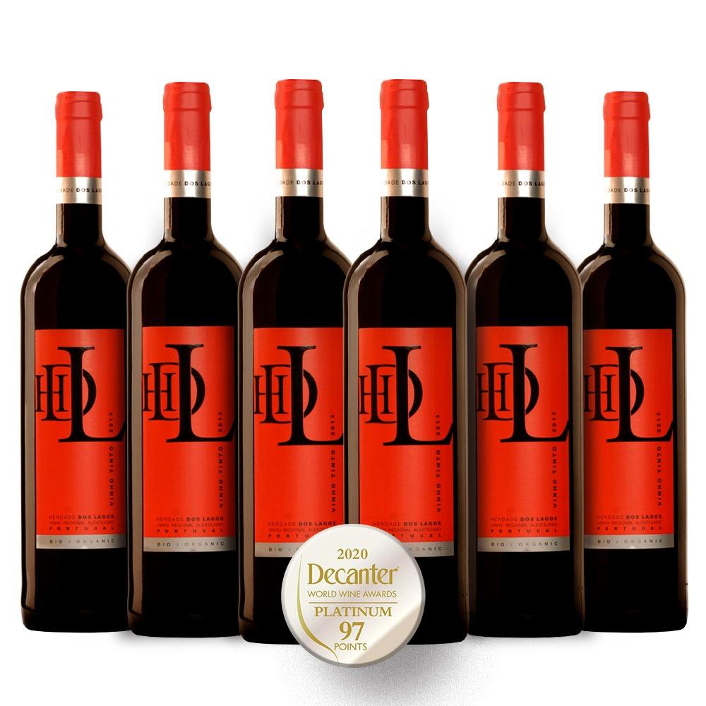 Caixa com 6 garrafas -Vinho HDL tinto orgânico