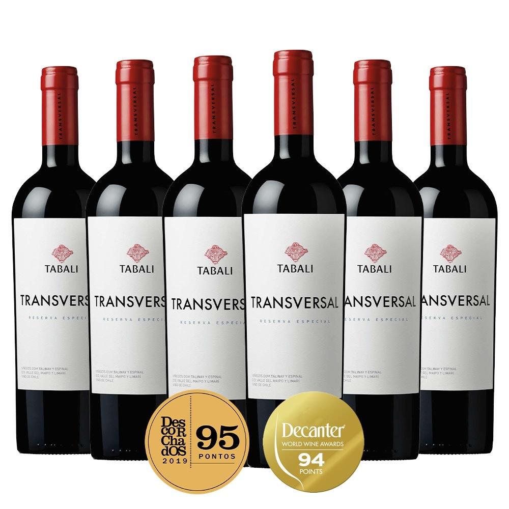 Caixa com 6 garrafas- Vinho Tabali Transversal Reserva Especial Blend 2018