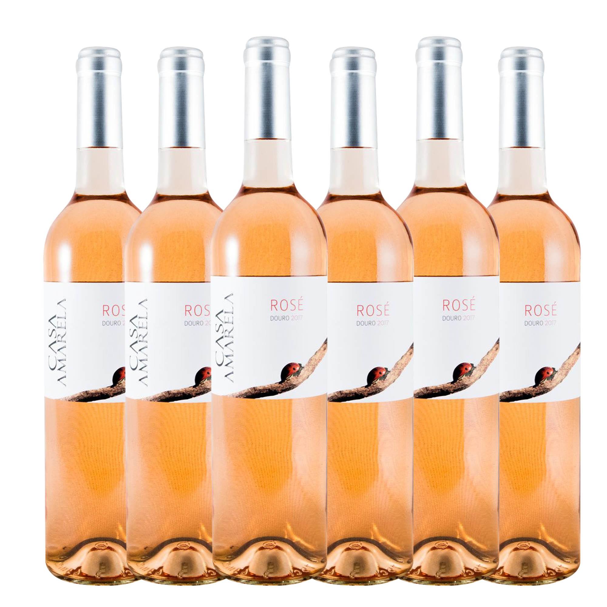 Vinho Casa Amarela Douro Rose 6 Garrafas