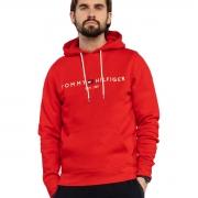Blusa Moletom Tommy Hilfiger Logo Hody Vermelho