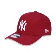 Boné New Era Yankees Vermelho Logo Branco