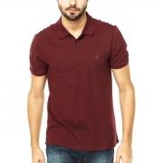 Camisa Polo Calvin Klein Regular Vinho