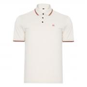 Camisa Polo John John 2 Lines Branca