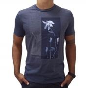 Camiseta Calvin Klein Masculina Slim Flower Marinho