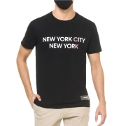 Camiseta Calvin Klein MC Slik New York City Preto