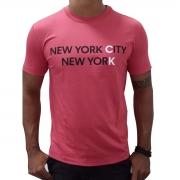 Camiseta Calvin Klein MC Slik New York City Vermelha