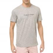 Camiseta Calvin Klein NY Flamê Cinza Ck Peito