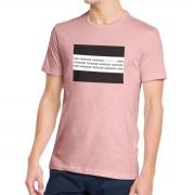 Camiseta Calvin Klein Slim Institucional Flag Rosa