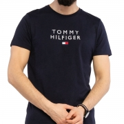 Camiseta Tommy Hilfiger Flag Bordado Azul Marinho