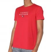 Camiseta Tommy Hilfiger Flag Bordado Vermelho
