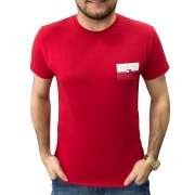 Camiseta Tommy Hilfiger Small Chest Box Vermelha