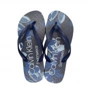 Chinelo Calvin Klein Swimwear Masculino Estampa Floral Azul Marinho