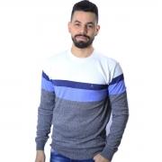 Suéter Agricio em Listra Azul