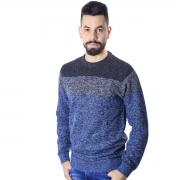 Suéter Agricio Tricolor Azul Mescla