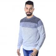Suéter Agricio Tricolor Cinza Mescla