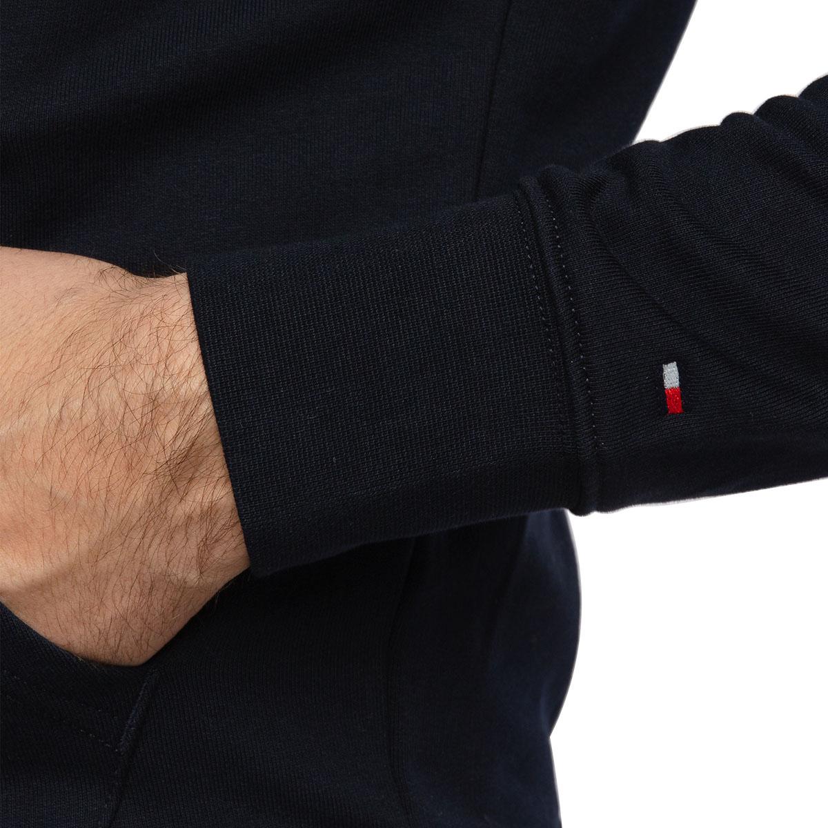 Blusa de Moletom Tommy Hilfiger Zip Through Azul Marinho