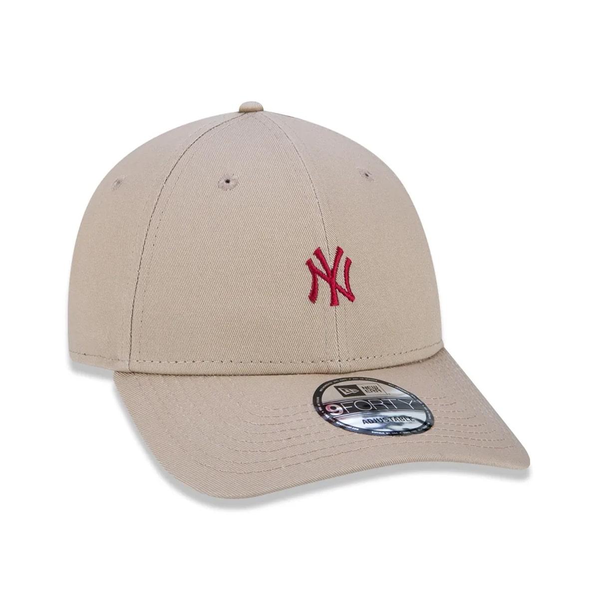 Boné New Era 940 Veranito Mini Logo Yankees Bege