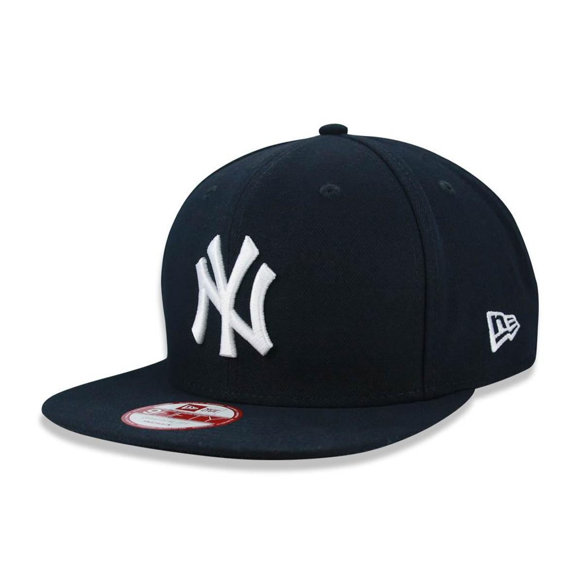 Boné New Era Aba Reta Yankees Azul Marinho