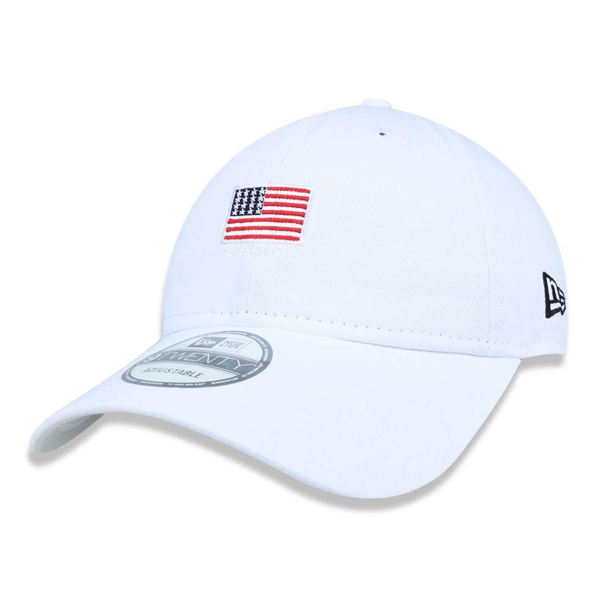 Boné New Era Bandeira EUA Branco