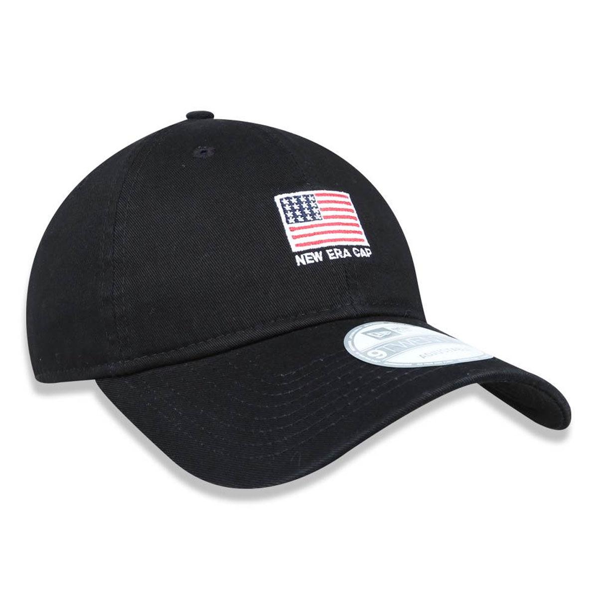 Boné New Era Bandeira EUA Preto