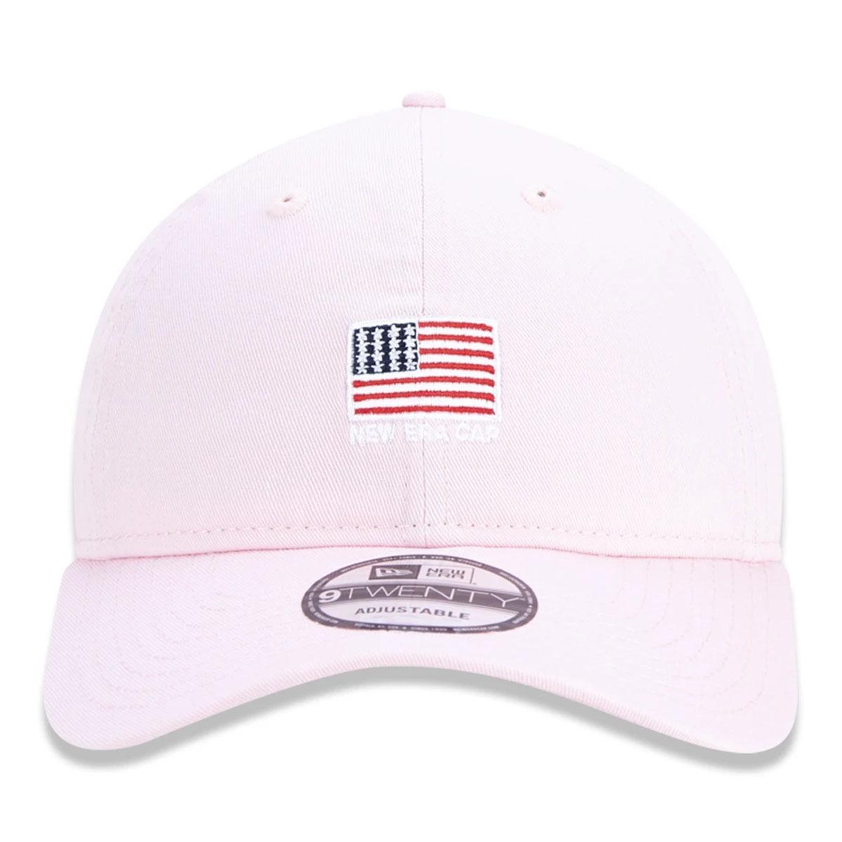 Boné New Era Bandeira EUA Rosa