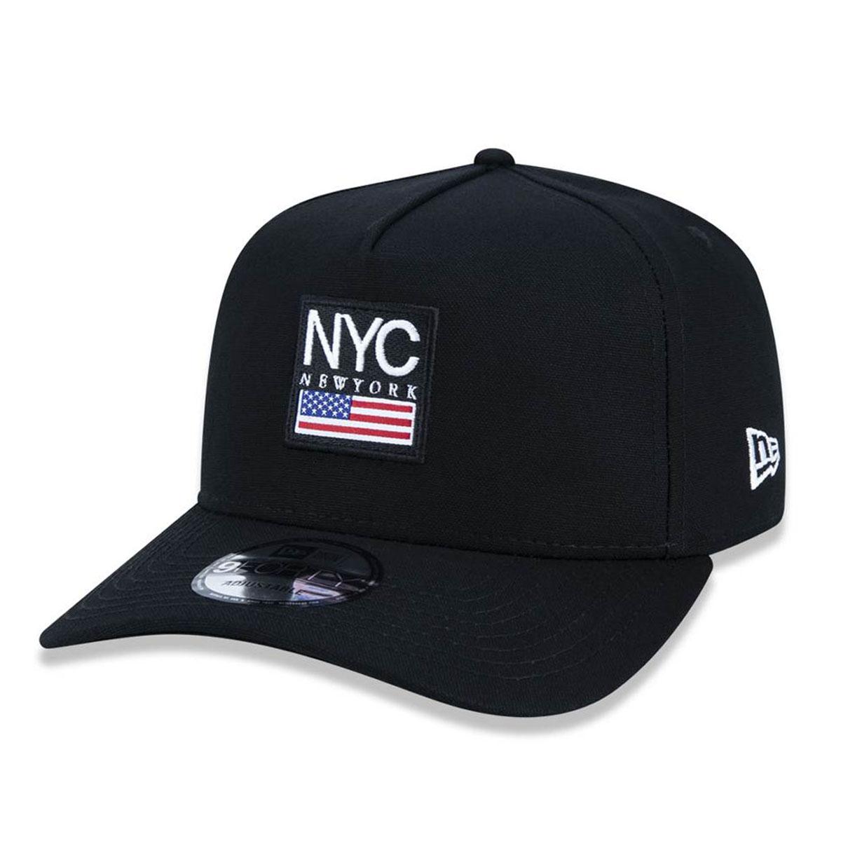 Boné New Era Masculino Preto Cities NYC