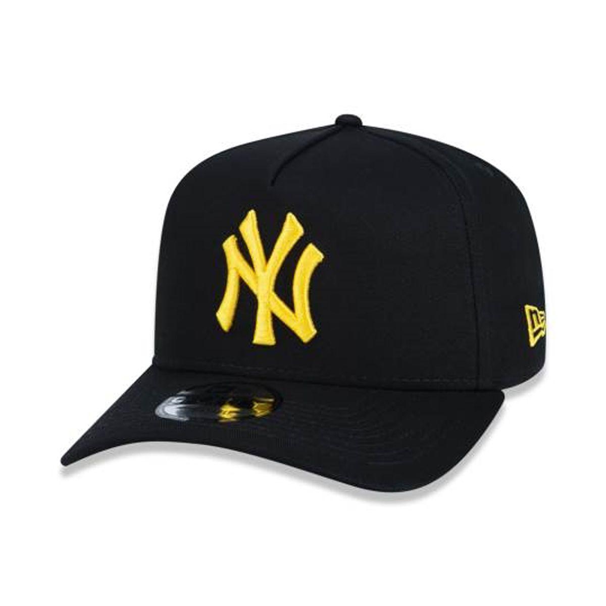 Boné New Era Masculino Yankees Preto com Dourado