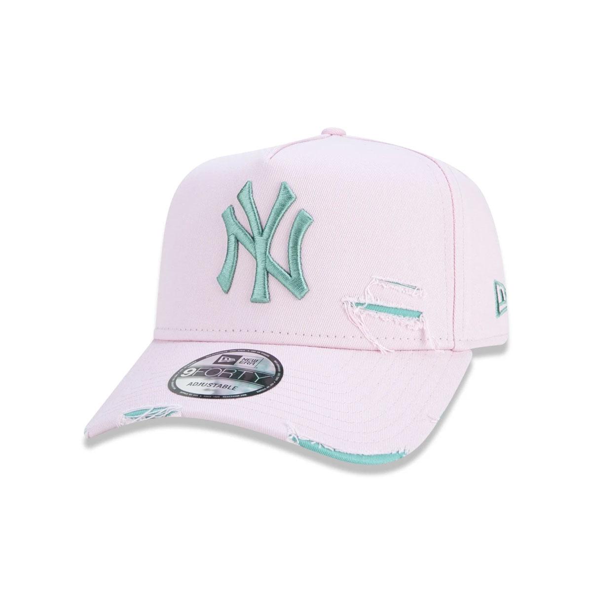 Boné New Era New York Yankees Destroyed Rosa