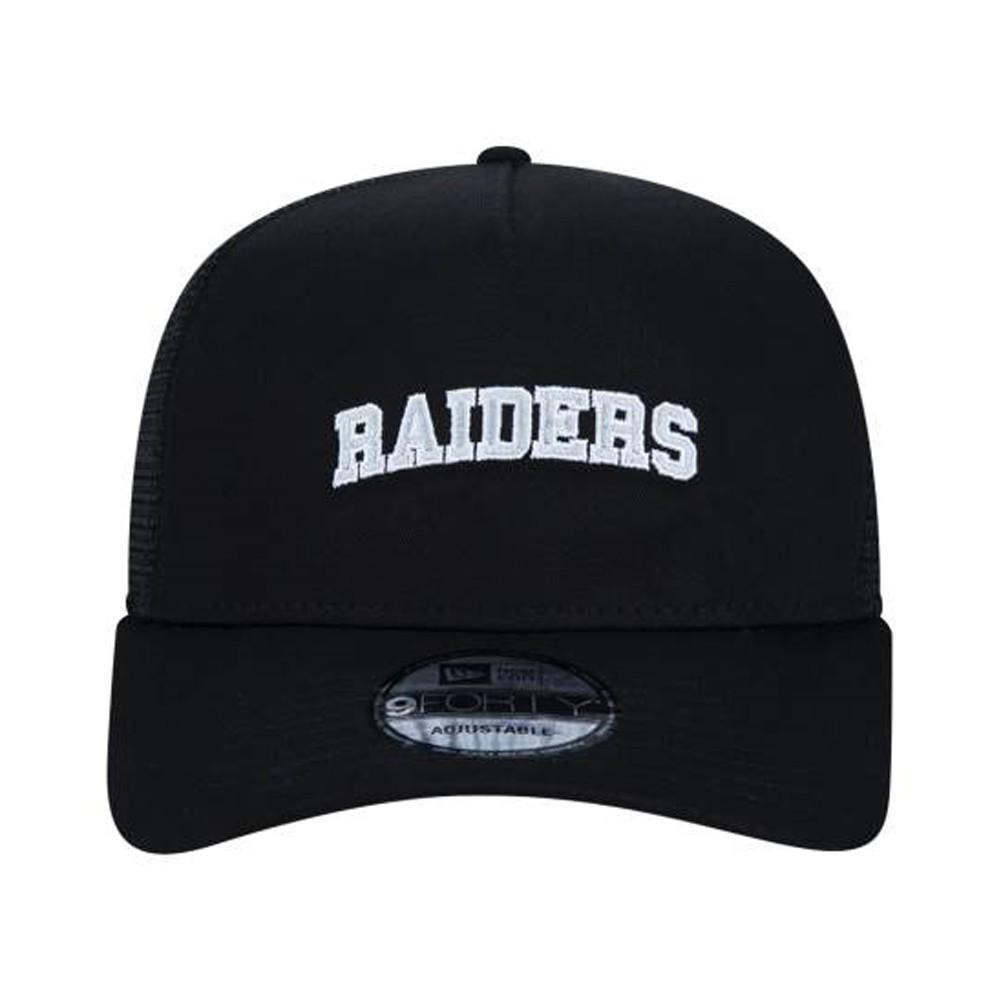 Boné New Era Raiders com Tela Preto